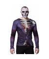 Halloween heren shirt met zombie bruidegom