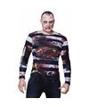 Halloween heren shirt met zombie gevangene opdruk