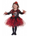 Halloween jurkje met doodshoofd