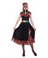 Halloween mexicaanse feestjurk dag van de dood