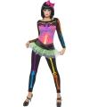 Halloween neon skelet kostuum vrouwen