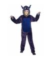 Halloween paars monster kostuum voor kinderen
