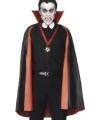 Halloween pvc dubbelzijdige cape rood zwart