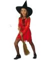 Halloween rode heksenjurk voor meisjes