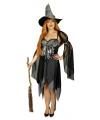 Halloween sexy heksen kostuum zwart voor dames