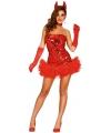 Halloween sexy rood duivel jurkje dames