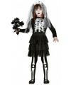 Halloween skelet bruidsjurk voor meisjes