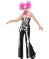 Halloween skelet jumpsuit voor dames