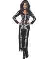 Halloween skeletten jurk zwart voor dames