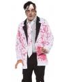 Halloween wit jasje met bloedspetters