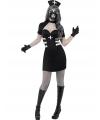 Halloween zwart zombie zuster kostuum