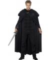 Halloween zwarte barbaar cape voor volwassenen
