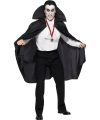 Halloween zwarte vampier cape voor volwassen