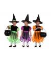 Heksen kostuum paars voor meisjes