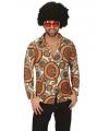 Hippie cirkel overhemd voor heren