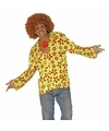 Hippie verkleed overhemd groen oranje voor heren