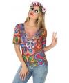Hippie verkleed shirt voor dames