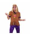 Hippie vest met franjes en hoofdband voor heren