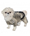 Honden kostuum zebra