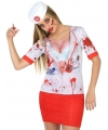 Horror zuster verkleed shirt voor dames