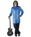 Jaren 70 pop kostuum blauw