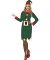 Kerst elfjes kostuum groen voor dames
