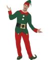 Kerstelf kostuum voor heren
