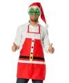 Kerstkleding schort kerstman