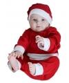 Kerstman baby onesie kostuum