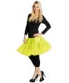 Lange tule petticoat neon geel