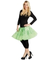 Lange tule petticoat neon groen