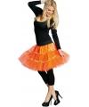 Lange tule petticoat neon oranje