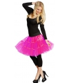Lange tule petticoat neon roze