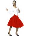 Lange tule petticoat rood