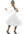 Lange tule petticoat wit