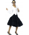 Lange tule petticoat zwart
