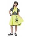 Lime groene jaren 50 meisjes jurkje