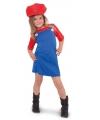 Loodgieter jurkje rood voor meisjes