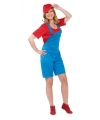 Loodgieter kostuum rood voor dames