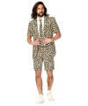 Luipaard print zomer kostuum