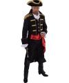 Luxe piraten jas zwart voor heren