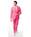 Luxe roze heren kostuum