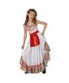 Mexicaans meisje kostuum met rood schortje