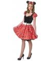 Minnie mouse kostuum voor dames