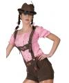 Oktoberfest bruine lederhosen voor dames