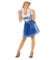Oktoberfest jurk sexy blauw