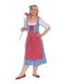 Oktoberfest lange tiroler jurk voor dames