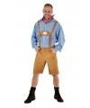 Oktoberfest lichtbruine lederhosen voor heren