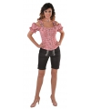 Oktoberfest tiroler blouse off shoulder rood geruit
