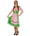 Oktoberfest tiroler jurk groen met roze